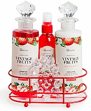 Kup Zestaw - IDC Institute Vintage Fruits (sh/g/240ml+b/lot/240ml+spray/120ml+soap/100g+massager)