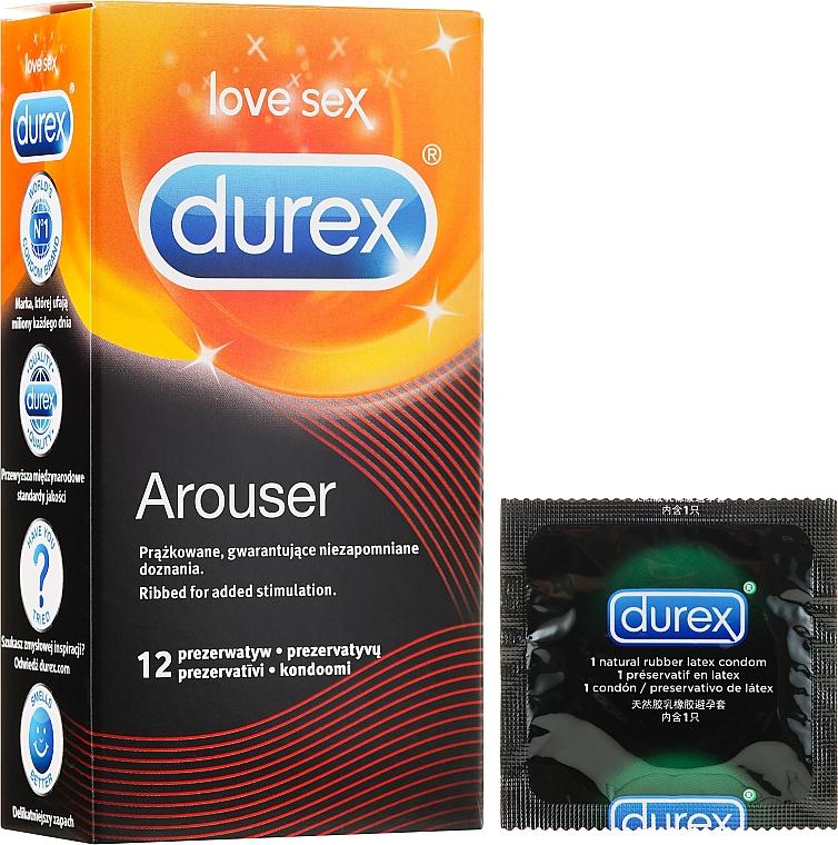 Prezerwatywy prążkowane, 12 szt. - Durex Arouser — фото N1