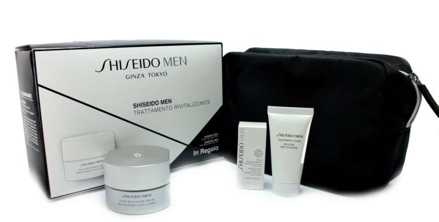 Zestaw kosmetyków dla mężczyzn - Shiseido Men Total Revitalizer Set (cr/50ml + foam/30ml + eye/cr/3ml + bag) — фото N1