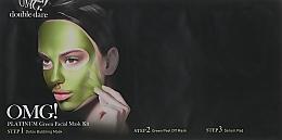 Kup Zestaw detoksykujących maseczek nawilżających do twarzy - Double Dare OMG! Platinum Green Facial Mask
