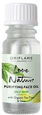 Oczyszczający olejek do twarzy z organicznym drzewem herbacianym i limonką - Oriflame Love Nature Purifying Face Oil — фото N1