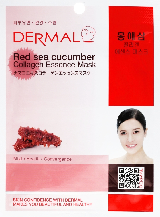 Kolagenowa esencjonalna maseczka w płachcie do twarzy Czerwony ogórek morski - Dermal Red Sea Cucumber Collagen Essence Mask — фото N1