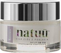 Intensywnie nawilżające przeciwzmarszczkowe serum na noc z ekstraktem z szałwii czerwonej - Natuu Smooth & Lift — фото N2