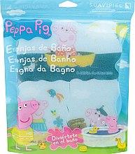 Kup Zestaw gąbek Świnka Peppa, 3szt. Morska podróż - Suavipiel Peppa Pig Bath Sponge