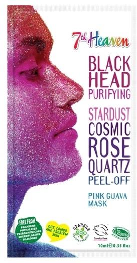 Oczyszczająca brokatowa maska do twarzy Guawa - 7th Heaven Stardust Cosmic Rose Quartz Peel-Off Pink Guava Mask — фото N1