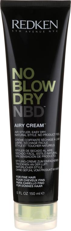 Krem do stylizacji włosów - Redken No Blow Dry Airy Cream  — фото N1