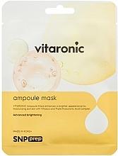 Kup Rozświetlająca maseczka w płachcie do twarzy - SNP Prep Vitaronic Ampoule Mask