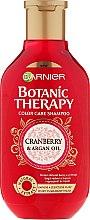Kup Szampon do włosów farbowanych i z pasemkami Żurawina i olej arganowy - Garnier Botanic Therapy