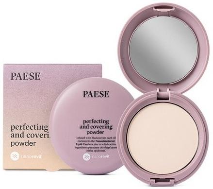 Matujący puder w kompakcie do twarzy - Paese Perfecting & Covering Nanorevit Powder