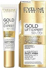 Kup Luksusowy złoty krem napinający kontur oczu i ust 50+/70+ - Eveline Cosmetics Gold Lift Expert