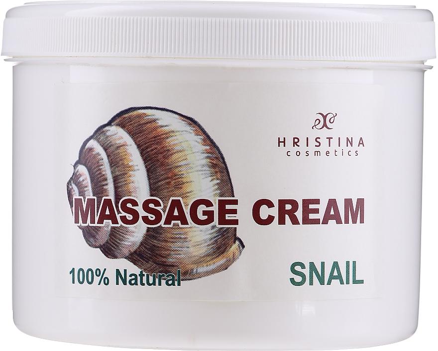 Krem do masażu twarzy i ciała - Hristina Cosmetics Massage Snail Cream — фото N1