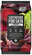 Kup Rozświetlające chusteczki oczyszczające do twarzy Burak - Superfood For Skin Brightening Facial Cleansing Wipes Beet