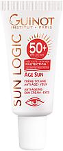 Kup Przeciwstarzeniowy krem przeciwsłoneczny do skóry wokół oczu SPF 50+ - Guinot Age Sun Anti-Ageing Sun Cream Eyes SPF50