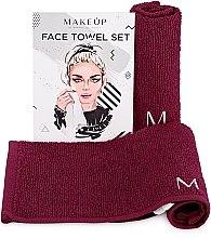 Kup Podróżny zestaw bordowych ręczników do twarzy MakeTravel - Makeup