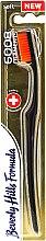 Kup Miękka szczoteczka do zębów, czarno-pomarańczowa - Beverly Hills Formula 6008 Filament Multi-Colour Toothbrush