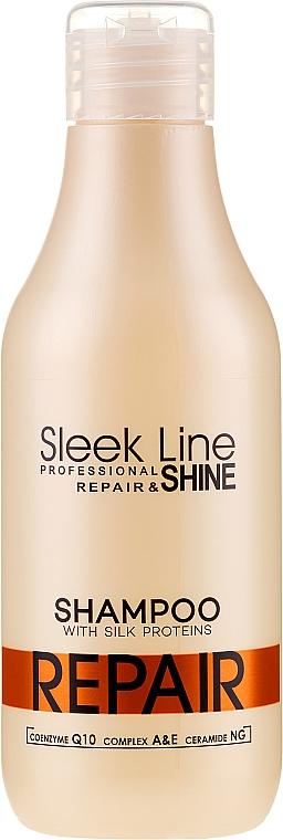 Regenerujący szampon z jedwabiem do włosów - Stapiz Sleek Line Repair