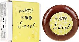 Kup Organiczne mydło w kostce z mydelniczką Migdał - PuroBio Cosmetics Home Organic Sweet