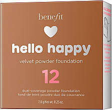 Podkład w pudrze do twarzy - Benefit Hello Happy Velvet Powder Foundation — фото N14