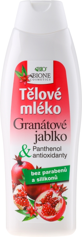 Mleczko do ciała z granatem i antyoksydantami - Bione Cosmetics Pomegranate Body Lotion With Antioxidants