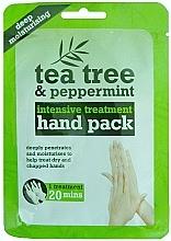 Kup Maska -rękawiczki na dłonie - Xpel Marketing Ltd Tea Tree & Peppermint Deep Moisturising Hand Pack