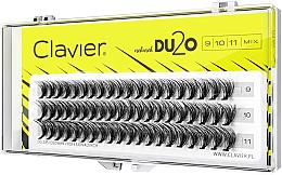 Kup Kępki sztucznych rzęs, 9mm, 10mm, 11mm - Clavier DU2O Double Volume MIX