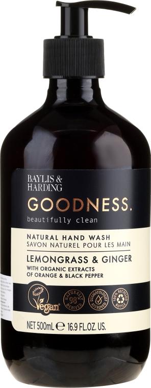 Naturalne mydło w płynie do rąk - Baylis & Harding Goodness Lemongrass & Ginger Natural Hand Wash — фото N1