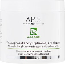 Kup Maska algowa do cery trądzikowej z bambusem, zieloną herbatą i czarnym błotem z morza martwego - APIS Professional Acne-Stop