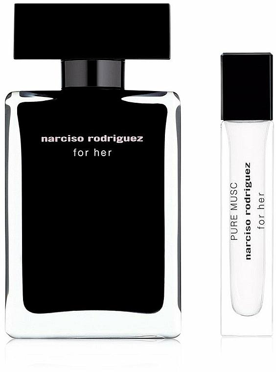 Narciso Rodriguez For Her - Zestaw (edt 50 ml + edp/mini 10 ml) — фото N2