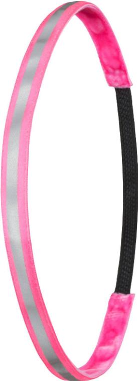 Opaska do włosów Neon Pink Reflective - Ivybands Neon Pink Reflective Band — фото N1