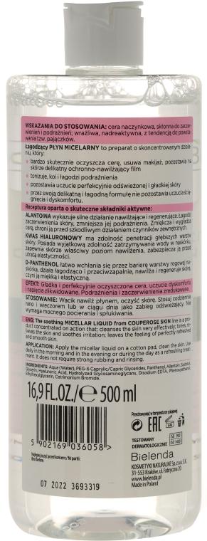 Łagodzący płyn micelarny do cery naczynkowej - Bielenda Capillary Skin Soothing Micellar Liquid — фото N2