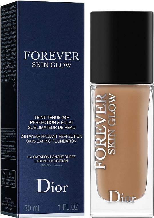 Rozświetlający podkład w płynie do twarzy - Christian Dior Diorskin Forever Skin Glow Foundation — фото N1