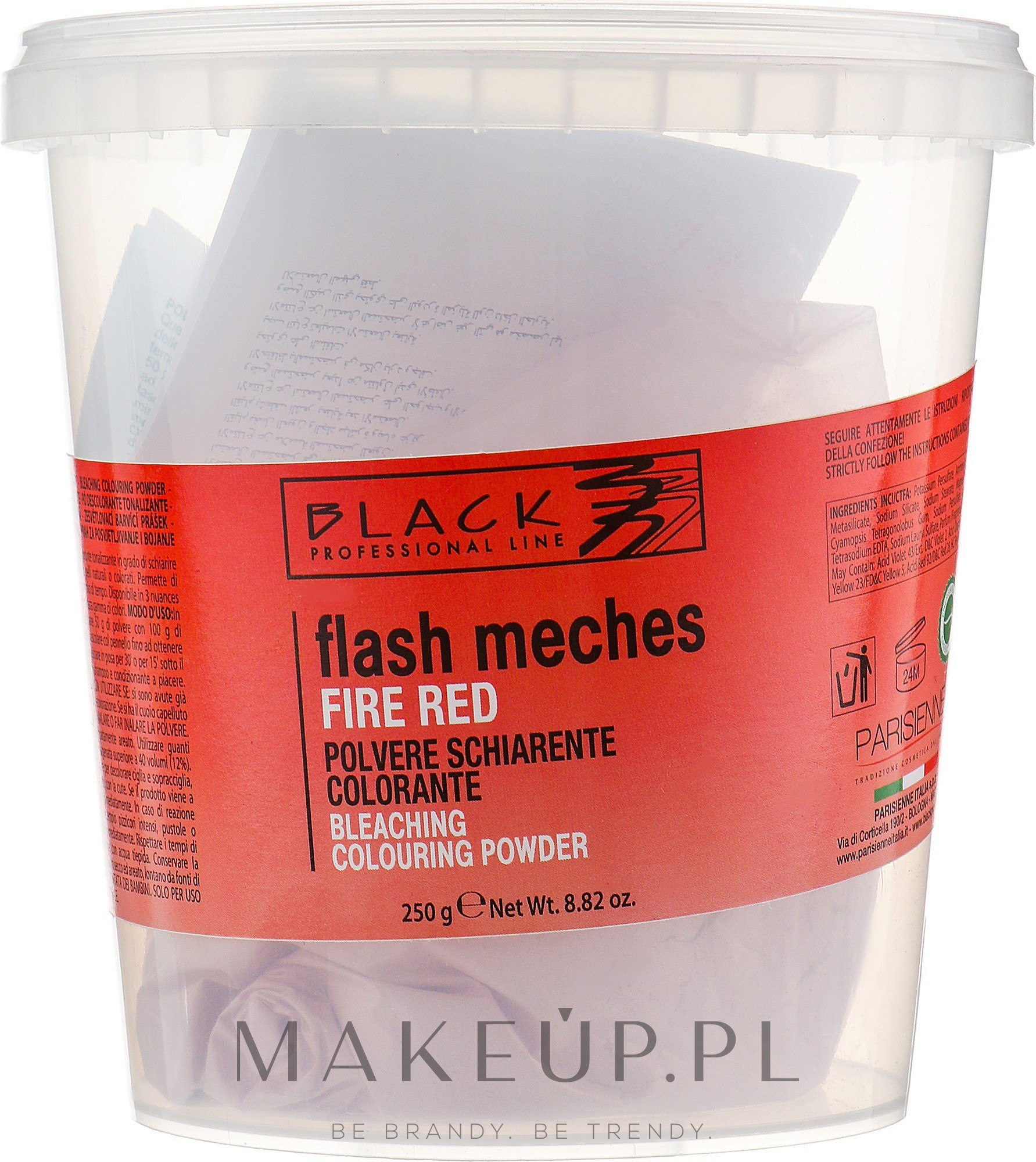 Proszek do rozjaśniania włosów - Black Professional Line Flash Meches Bleaching Colouring Powder — фото Fire Red