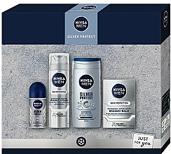 Kup Zestaw - Nivea Men Silver Protect 2020 (balm/100ml + foam/200ml + shower/gel/250ml + deo/50ml)