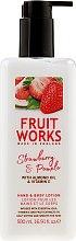 Kup Balsam do rąk i ciała Truskawka i pomelo - Grace Cole Fruit Works Hand & Body Lotion Strawberry & Pomelo