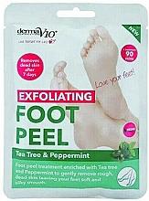 Kup Złuszczająca maska do stóp Drzewo herbaciane i mięta pieprzowa - Derma V10 Foot Peel Sock Mask Tea Tree & Peppermint