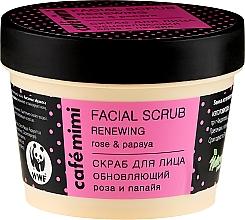 Kup Odnawiający peeling do twarzy Róża i papaja - Café Mimi Facial Scrub Renewing