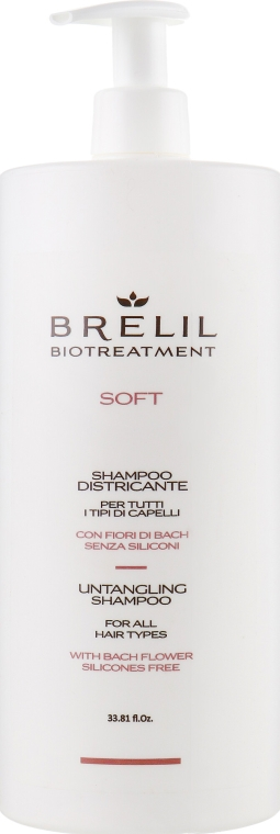 Szampon ułatwiający rozczesywanie włosów - Brelil Bio Treatment Soft Shampoo — фото N3