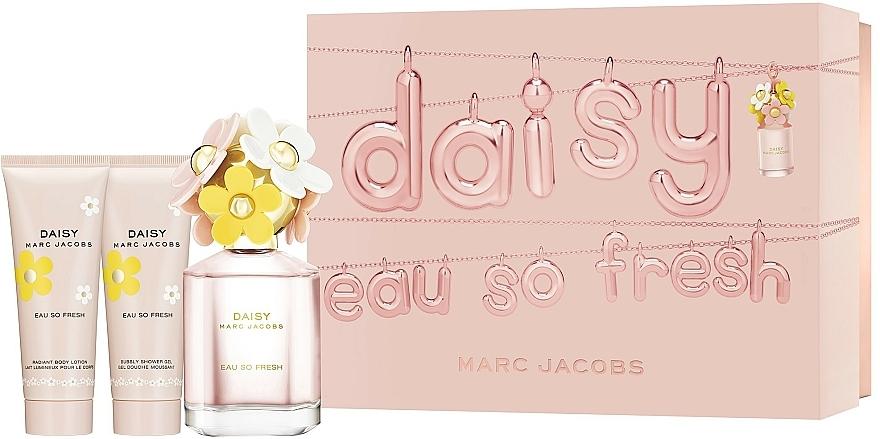 Marc Jacobs Daisy Eau So Fresh - Zestaw (edt 75 ml + b/lot 75 ml + sh/gel 75 ml) — фото N1
