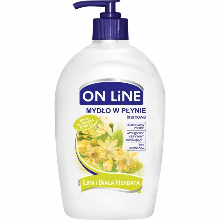Kremowe mydło w płynie Lipa i biała herbata - On Line