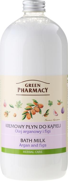 Kremowy płyn do kąpieli Olej arganowy i figi - Green Pharmacy