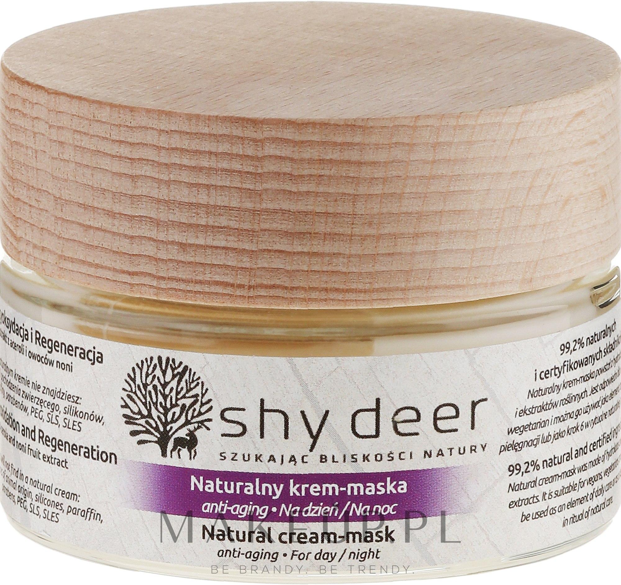 Naturalny krem-maska anti-aging na dzień i noc - Shy Deer Natural Cream-mask — фото 50 ml