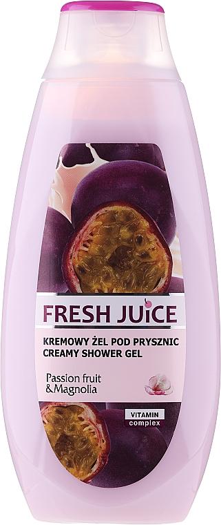 Kremowy żel pod prysznic Marakuja i magnolia - Fresh Juice Creamy Shower Gel Passion Fruit & Magnolia