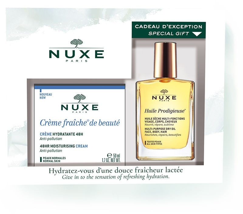 Zestaw - Nuxe Creme Fraiche De Beaute Normal Skin (cr/50ml + oil/30ml) — фото N1
