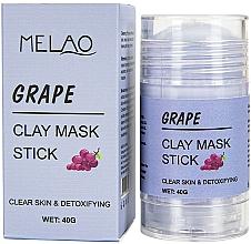 Kup Glinkowa maska w sztyfcie do twarzy Winogrono - Melao Grape Clay Mask Stick
