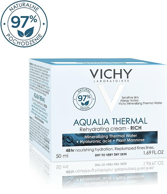 Bogaty krem intensywnie nawilżający do skóry suchej i bardzo suchej - Vichy Aqualia Thermal Rich Cream — фото N3