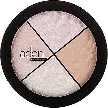 Kup Paletka rozświetlaczy do twarzy - Aden Cosmetics Highlighter Palette