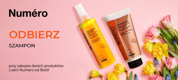 Przy zakupie dwóch produktów z serii Numero od Brelil, regenerujący szampon do włosów otrzymasz w prezencie.