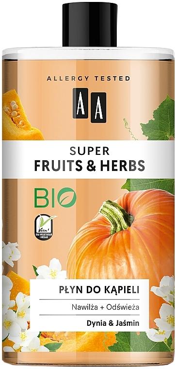 Płyn do kąpieli Dynia i jaśmin - AA Super Fruits & Herbs