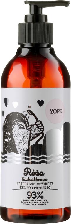 Naturalny odżywczy żel pod prysznic - Yope Róża i kadzidłowiec