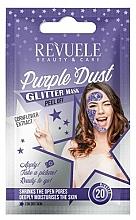 Kup Brokatowa maska peel-off do twarzy z ekstraktem z bławatka - Revuele Glitter Mask Purple Dust